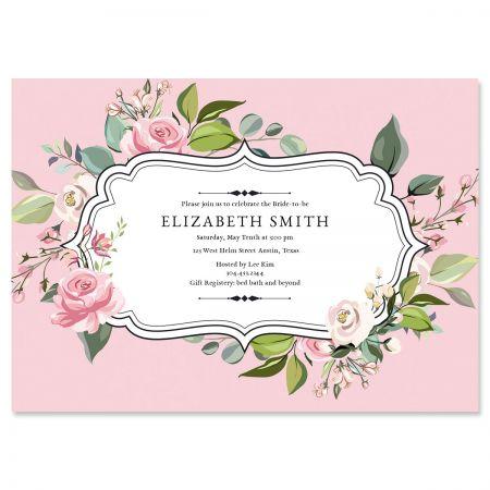 Grand Rose Personalized Invitations