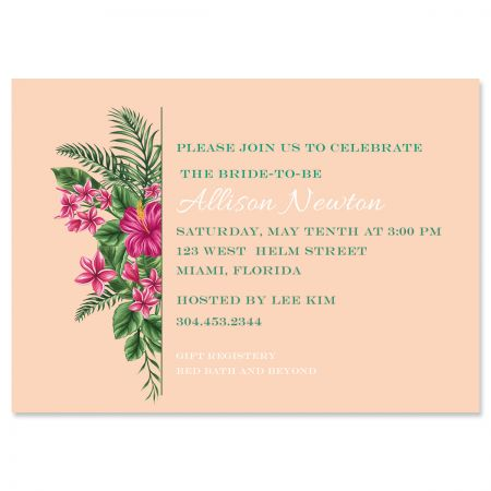 Lavish Tropical Personalized Invitations