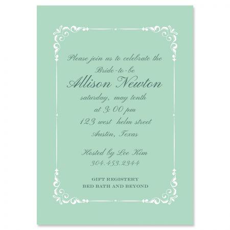 Splendor Personalized Invitations