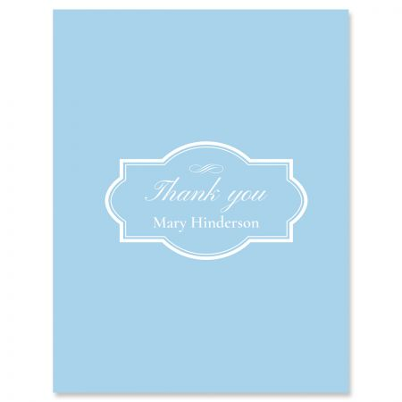 Light Blue Personalized Thank You Cards