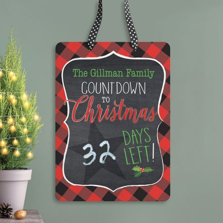 Personalized Christmas Chalkboard Countdown