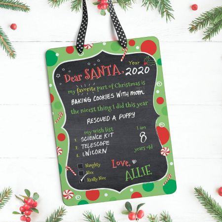 Personalized Dear Santa Christmas Plaque