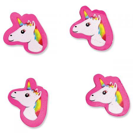 4 Mini Unicorn Erasers
