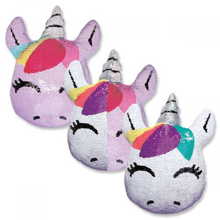 Unicorn Reversible Sequin Pillow Lillian Vernon
