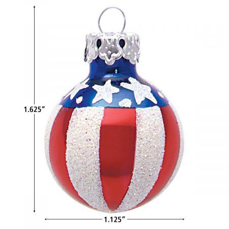 Americana Mouthblown Glass Ornaments