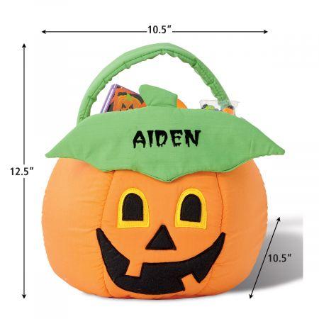 Jack-o'-Lantern Personalized Halloween Treat Bag