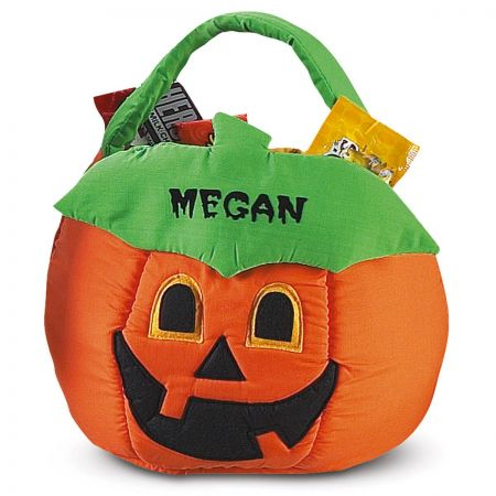 Jack-o'-Lantern Personalized Halloween Treat Bag