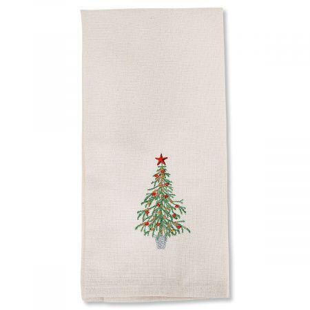Christmas Tree Embroidered Dish Towel