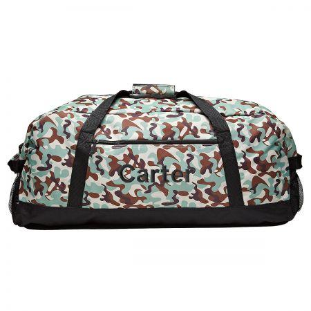 Black Camo Personalized Duffel Bag