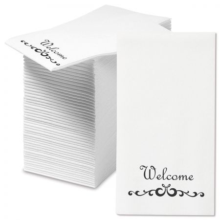 Welcome Scroll Disposable Hand Towels