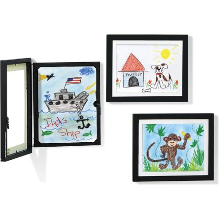Artwork Frame and Storage - Black