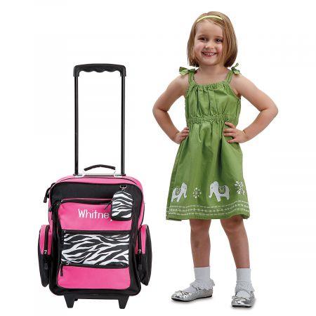 "Zebra Print 18"" Rolling Luggage"