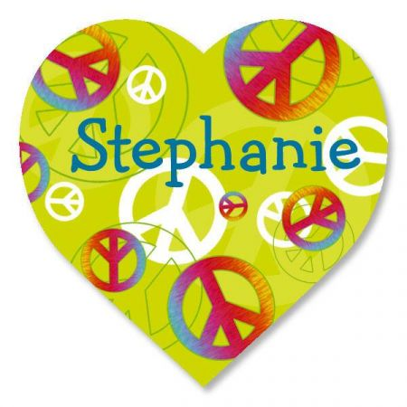 Peace Sign Personalized Stickers