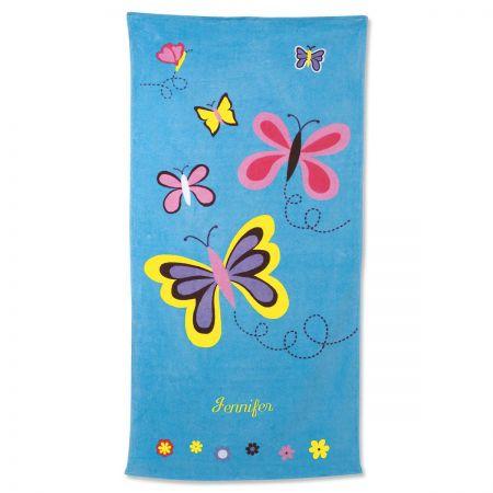 Blue Butterflies Towel
