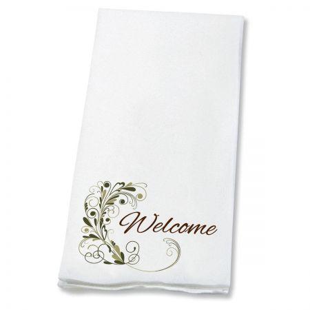 Welcome Flourish Hand Towels