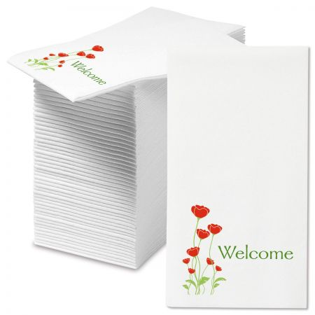 Welcome Poppies Disposable Hand Towels