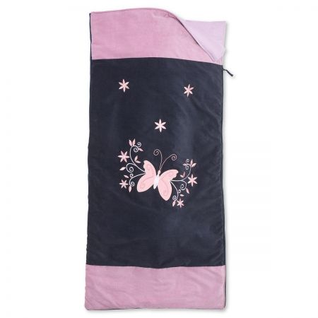Navy and Lavender Butterfly Sleeping Bag