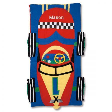 Personalized Race Car Sleeping Bag