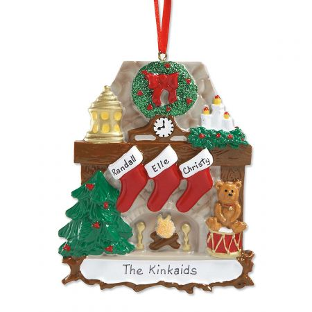 Mantel Stockings & Chimney Personalized Christmas Ornament