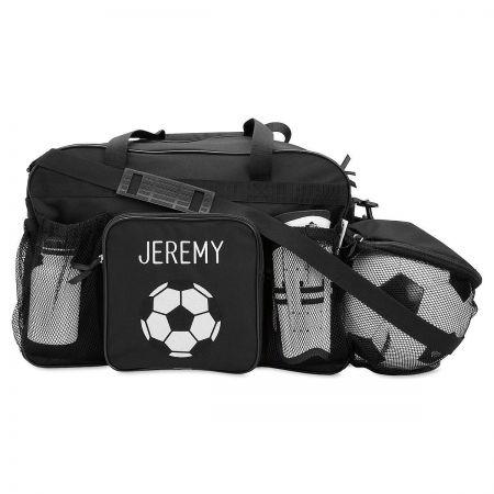 Black Soccer Sport Bag