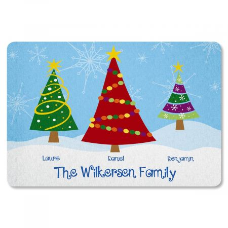 Family Trees Personalized Christmas Doormat