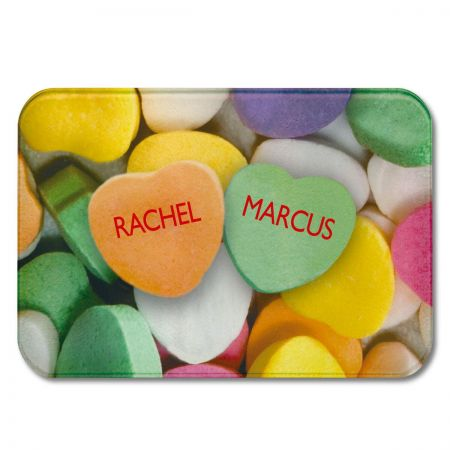 Candy Heart Personalized Glass Cutting Board