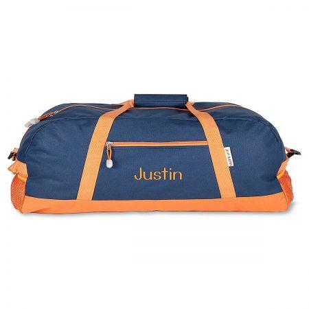 616ce47f1eea Navy and Orange Duffel Bag | Lillian Vernon