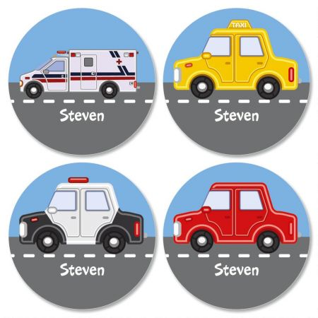 Kids' Personalized Vehicles Stickers