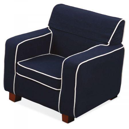 Navy Slip-Covered Laguna Chair