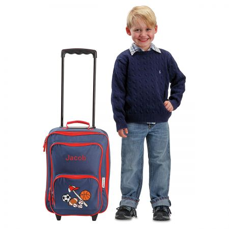 """All Sports 18"""" Personalized Rolling Luggage"""