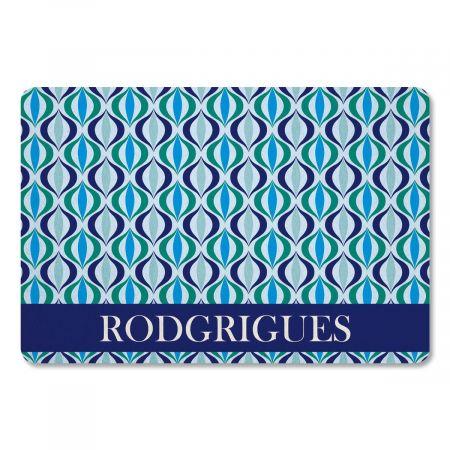 Ikat Personalized Doormat