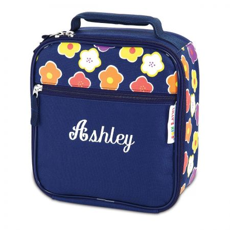 Navy Floral Lunch Bag