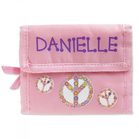 Personalized Girls Wallets-Peace Sign-814146D