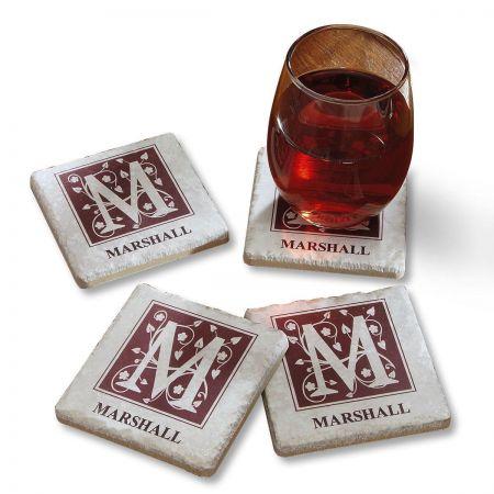 Tumbled Stone Personalized Coasters