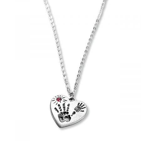 Mommy And Me Necklaces-Pink-814709A