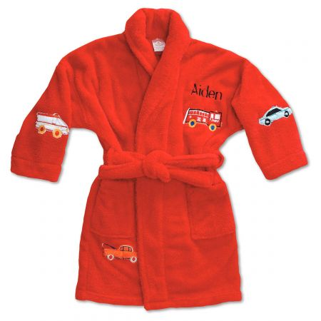 Red Plush Terry Robes-56-814723B