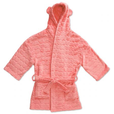 Coral Plush Terry Robes-810-814724B