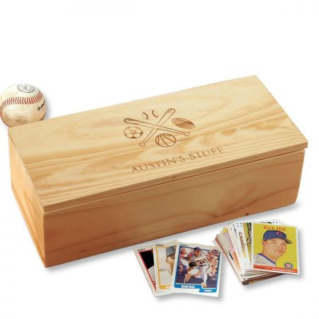 All Sports Personalized Baseball Card Storage Box