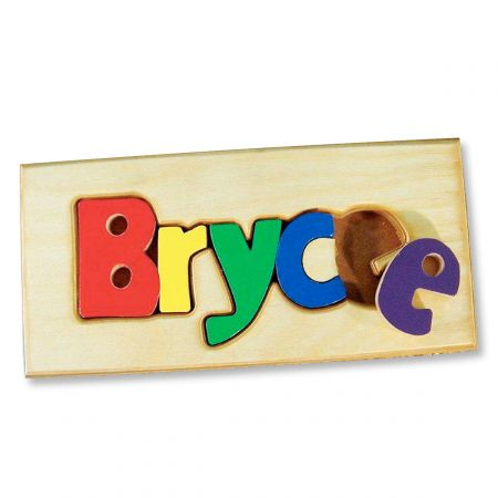 Personalized Name Board Floor Puzzle - Primary Colors