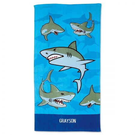 Sharks Personalized Towel