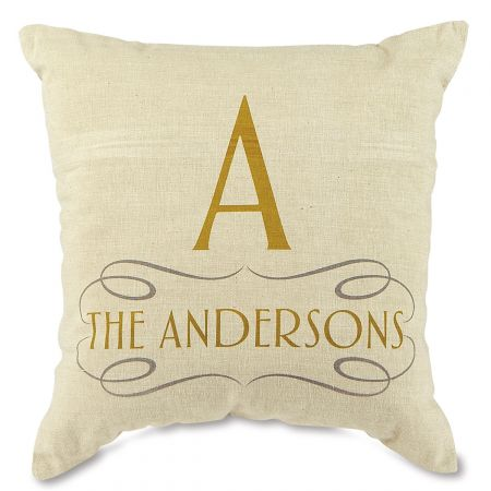 Family Decorative Pillow-Gold-815669A
