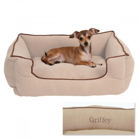 Small Low Profile Pet Bed - Linen