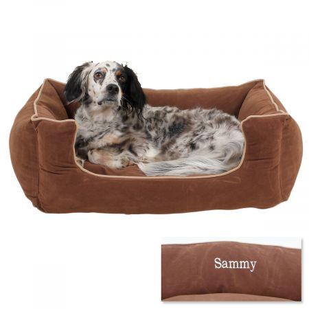 Medium Low Profile Pet Bed - Chocolate