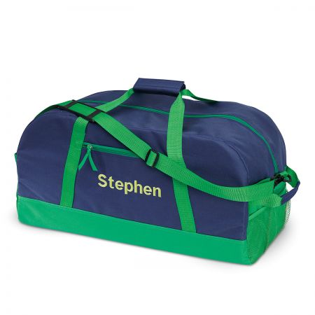 "Navy and Green 19"" Personalized Duffel Bags"