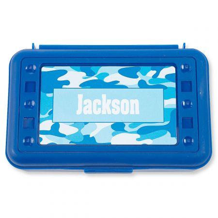 Pencil Boxes-Blue Camo-815863J