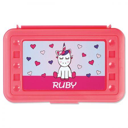 Personalized Unicorn Pencil Box