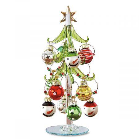 Art Glass Tree with Wine-Charm Ornaments
