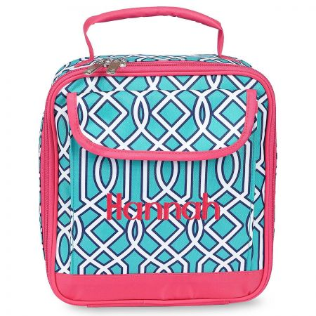 Turquoise Lattice Lunch Bag