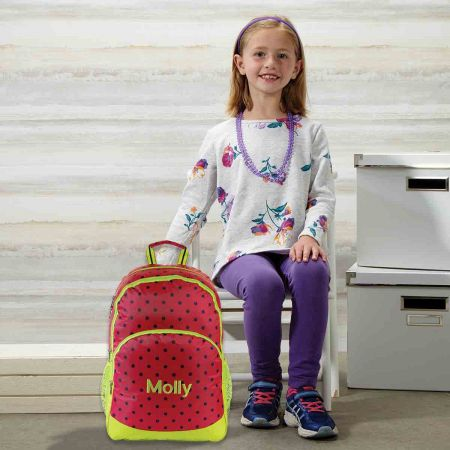 Pink Dot Personalized Backpack