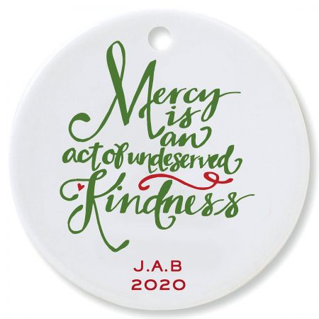 Mercy Round Christmas Personalized Ornaments